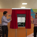 Guest-of-Honour, Dr. Lam Pin Min, Minister of State for Health and Mr. Chua Hung Seng, Chairman of All Saints Home unveil the commemorative plaque to officiate the opening of All Saints Home Jurong East today (20 May 2016).
